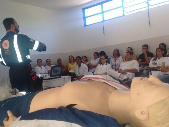 SAMU treina profissionais de saúde em Coração de Jesus