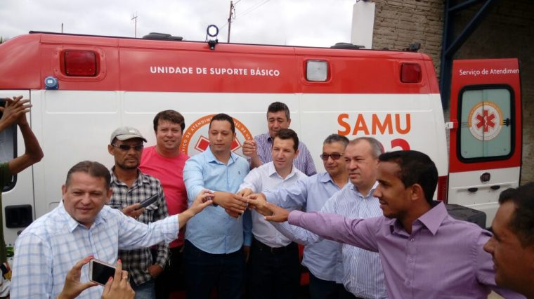 Mais sete ambulâncias são entregues às bases do SAMU Macro Norte