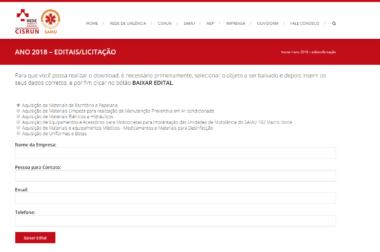 Processos licitatórios agora podem ser consultados pelo site